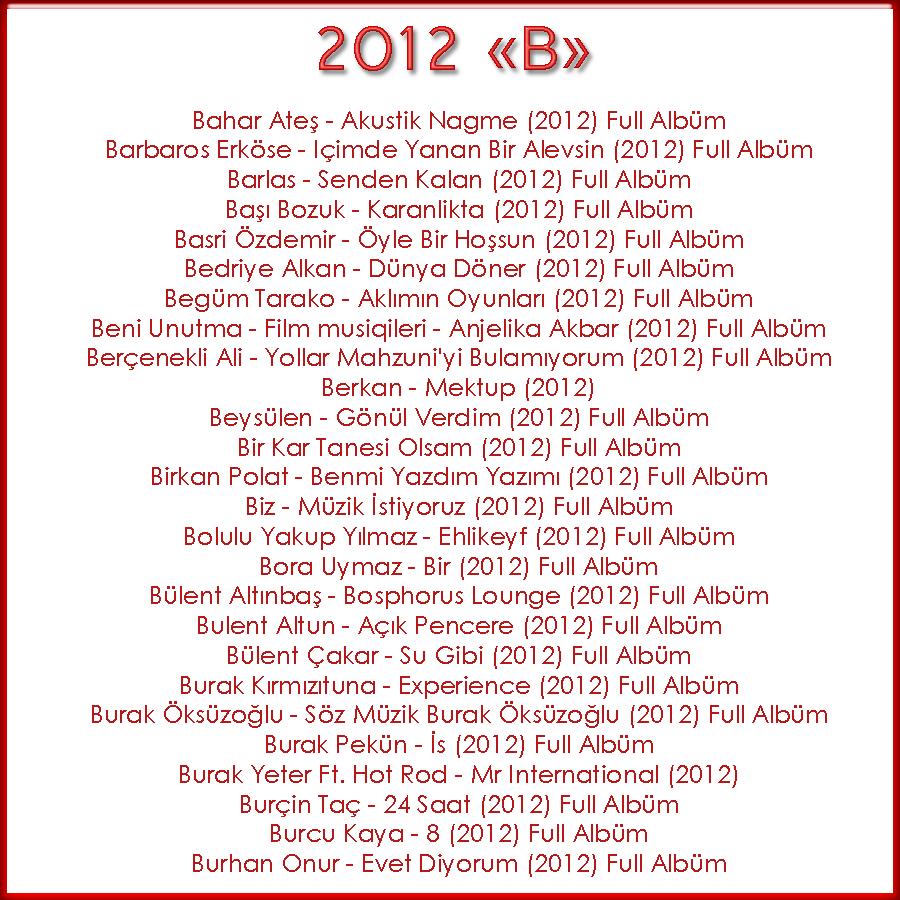 Full Albümler 2012